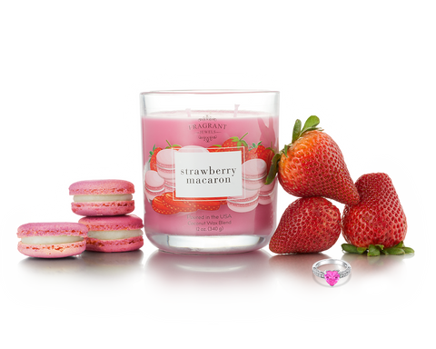 Strawberry Macaron - Jewel Candle