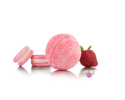 Strawberry Macaron - Jewel Bath Bomb