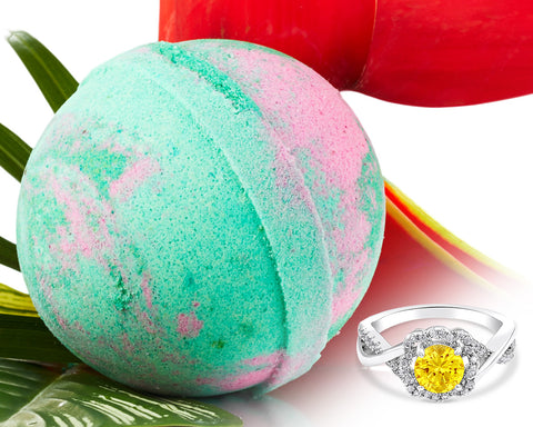 Teak Rain - Jewel Bath Bomb