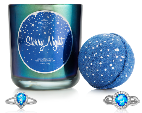Starry Night - Candle & Bath Bomb Gift Set