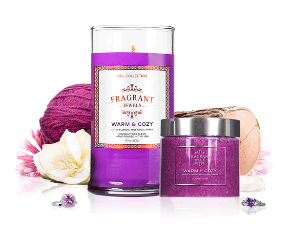 Warm & Cozy - Candle & Body Scrub Gift Set