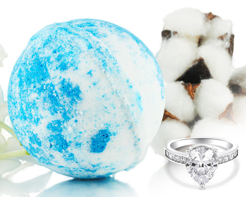 White Cotton - Jewel Bath Bomb