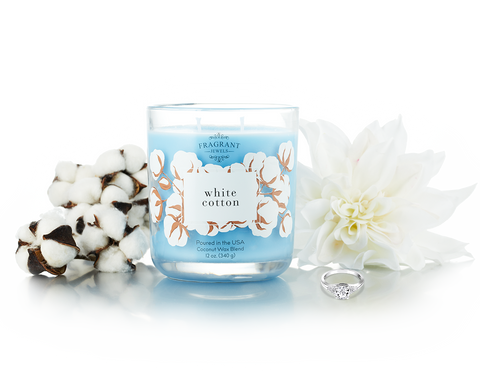 White Cotton - Jewel Candle