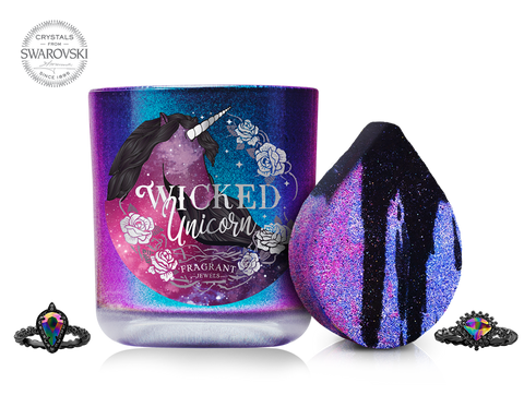 Wicked Unicorn - Candle and Bath Bomb Gift Set