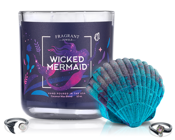 Wicked Mermaid - Candle and Bath Bomb Set