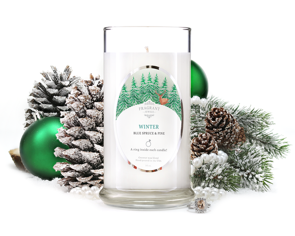 Winter - Jewel Candle With a Ring and a Chance to Win a $10k Ring