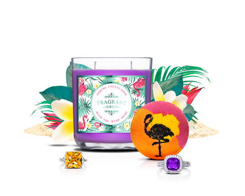 Wish You Were Here - Candle & Bath Bomb Gift Set