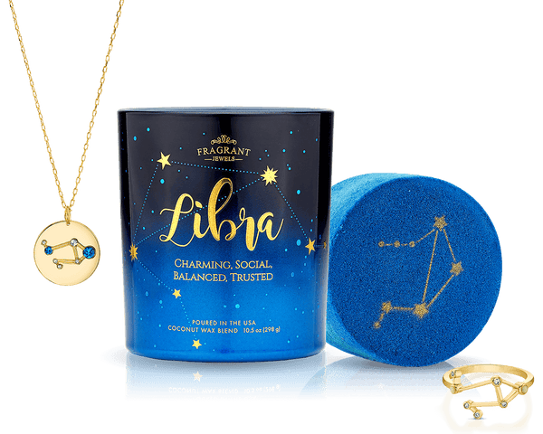 Libra - Zodiac Collection - Candle and Bath Bomb Set