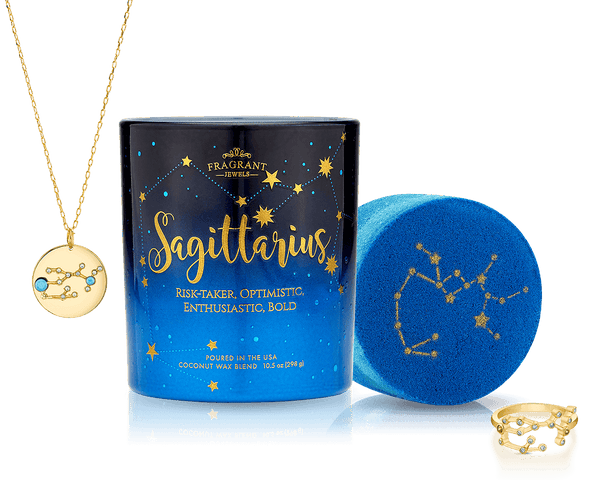 Sagittarius - Zodiac Collection - Candle and Bath Bomb Set
