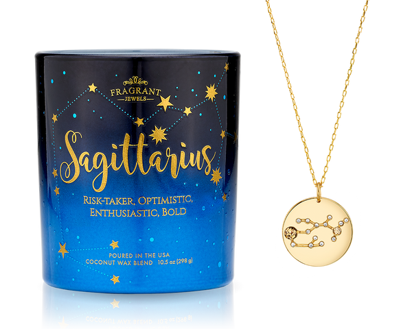 Sagittarius - Zodiac Collection - Jewel Candle