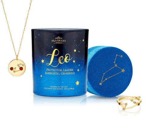 Leo Zodiac Collection Candle And Bath Bomb Set Inner