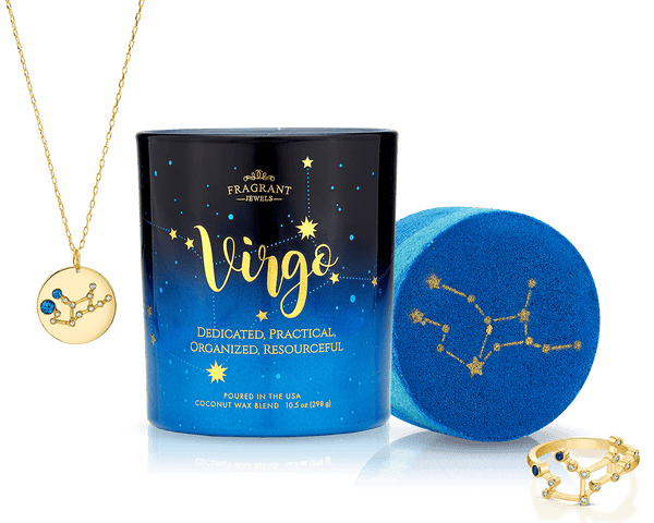 Virgo - Zodiac Collection - Candle and Bath Bomb Set