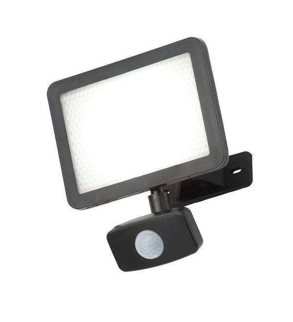 CZ-34405-BLK - Filey 20w Polycarbonate Floodlight /w PIR Blk