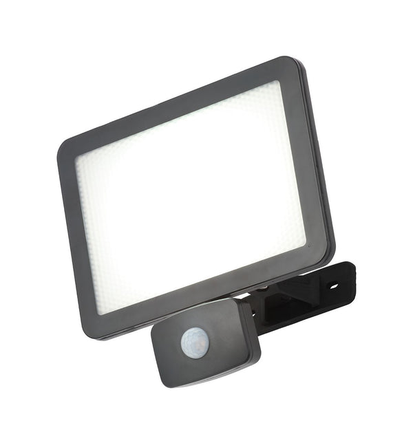 CZ-34407-BLK -  Filey 50w Polycarbonate Floodlight /w PIR Blk