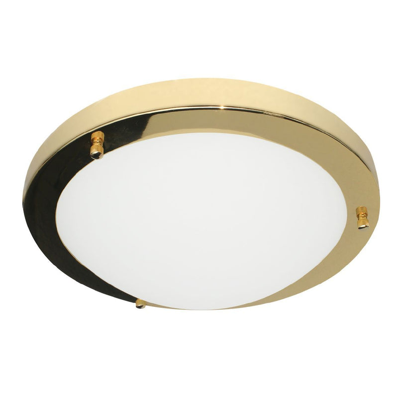 SPA-34049-BRS - Delphi Small Flush Ceiling Light in Shiny Brass Finish