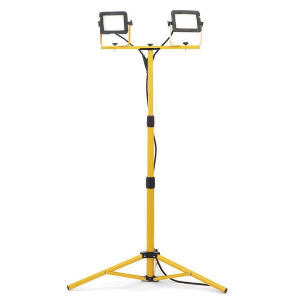 ZN-34870 - Twin LED Work Light with Tripod in Yellow Finish