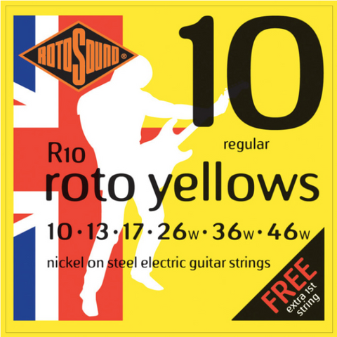 Rotosound R10 Roto Yellows Electric 10-46 String Set