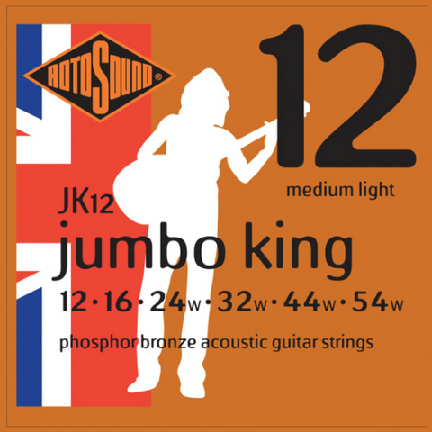 Rotosound JK12 Jumbo King Phosphor Bronze 12 - 54 String Set