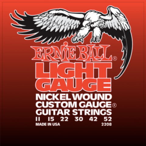 Ernie Ball Light Nickel Wound w/ Wound G Electric Guitar Strings - 11-52 Gauge