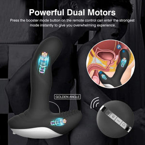 CHEVEN Wiggle-Motion Dual Motors Vibrating Anal Vibrator - loveorl