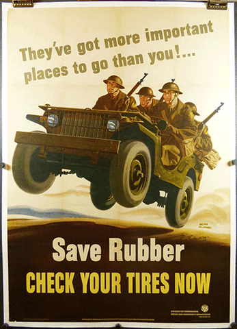 """""""Save Rubber"""" WWII Poster"""