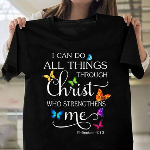 Women's Fashion T Shirts I Can Do All Things JF1040