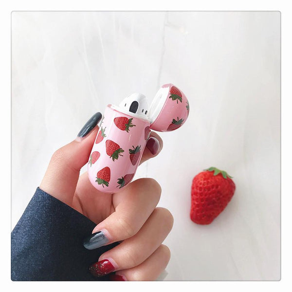 Kawaii Strawberry Airpods Protector Case JF1025