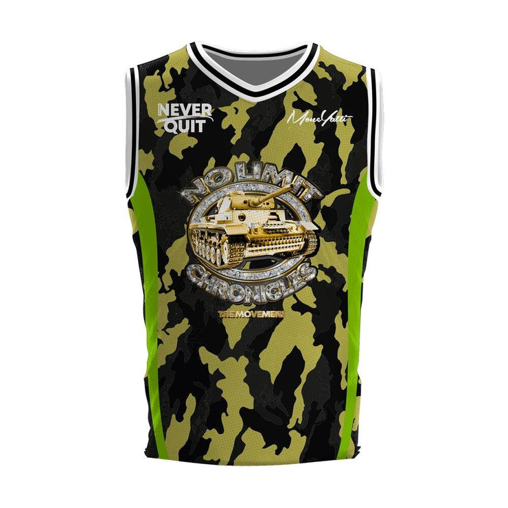 MoneYatti No Limit Chronicles Camo Basketball Jersey - Hot Gear