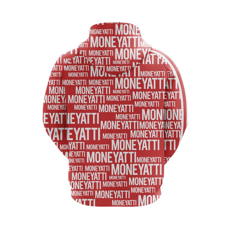 MoneYatti All Over Print Red Hoodie