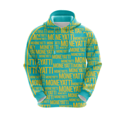 MoneYatti All Over Print Green Hoodie - Hot Gear