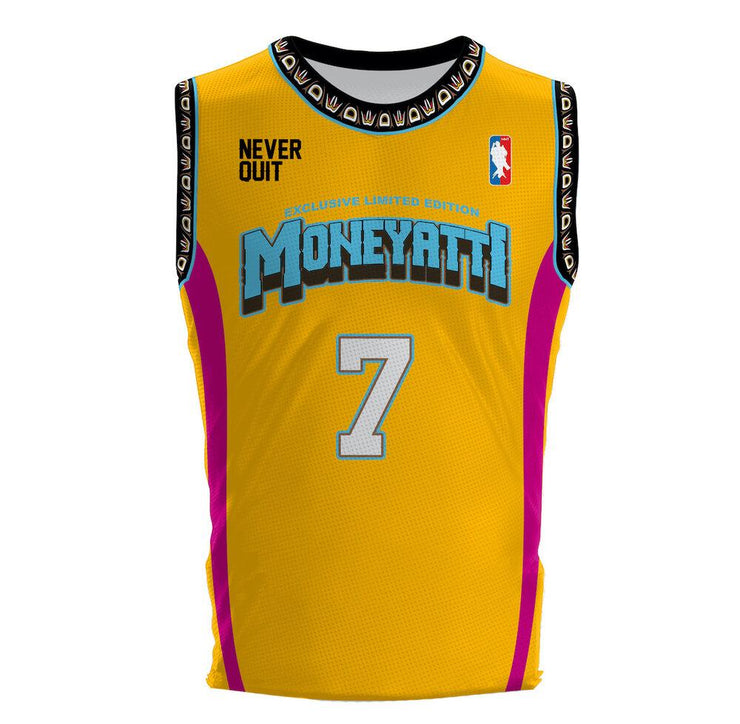 Moneyatti Grizzly Edition Yellow Basketball Jersey - Hot Gear