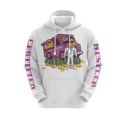 MoneYatti Limited Edition Ice Cream Hustle White Hoodie