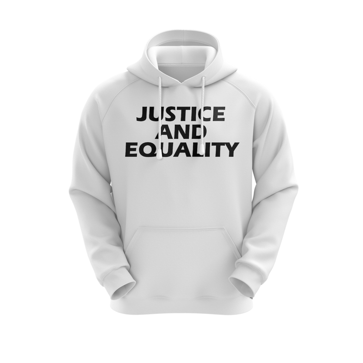 MoneYatti Justice and Equality white hoodie