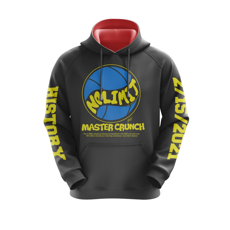 MoneYatti Limited Edition Master Crunch Logo Black Hoodie