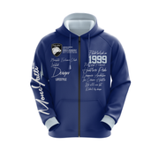 Moneyatti Signature Series Navy Light Blue Track Set (Hoodie & Jogger)
