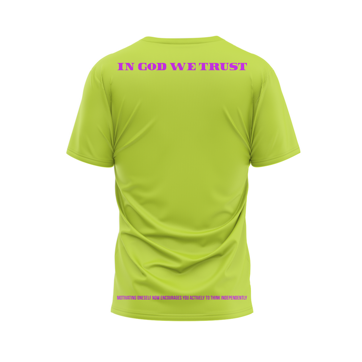 MoneYatti Keep it 100 Lime Green T-shirt