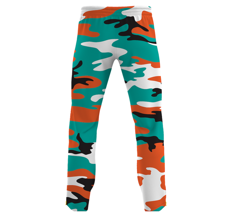 MoneYatti Aqua Orange Camo Joggers