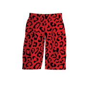 MoneYatti Leopard collection red basketball shorts