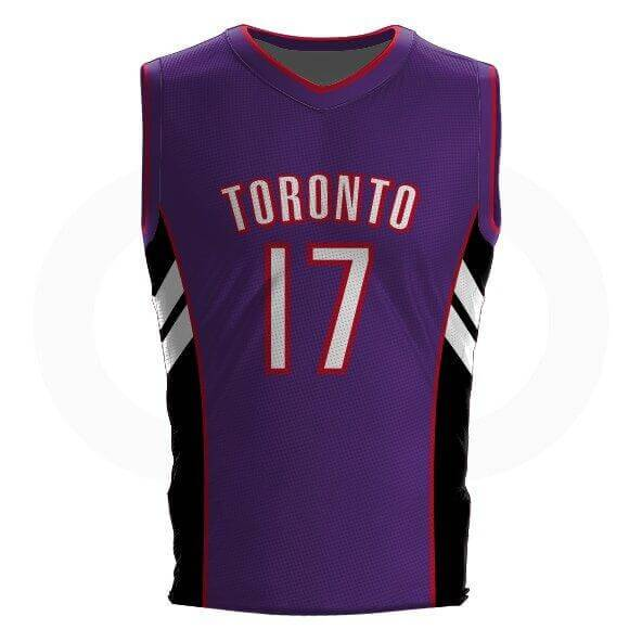 Master P DELUXE Purple Raptors Jersey - Tackle twill names and numbers