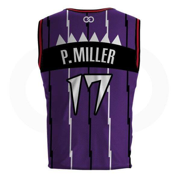 Master P DELUXE Striped Raptors Jersey - Tackle twill names and numbers