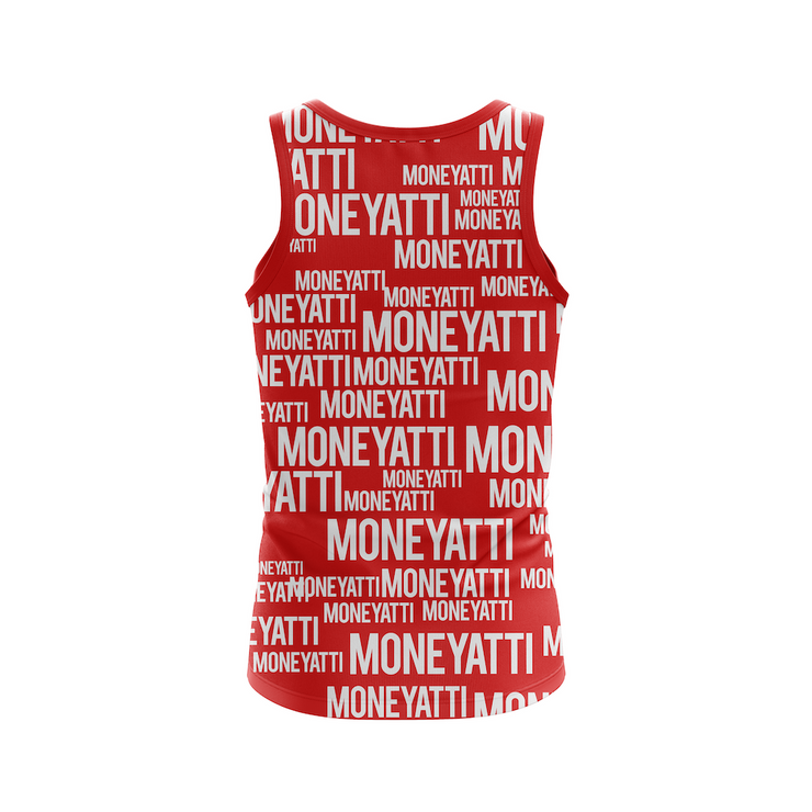 Moneyatti All over print red tank top - Hot Gear