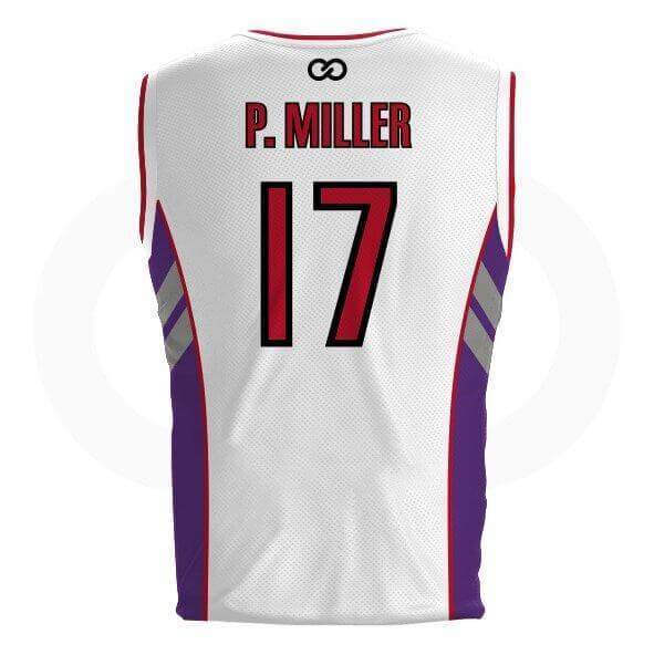 Master P DELUXE White Raptors Jersey - Tackle twill names and numbers