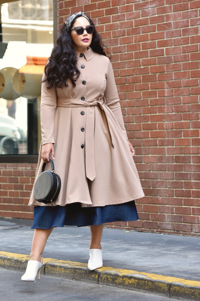 Girl With Curves Collection Custom Button Trench - #GirlWithCurves #collection #trench #dress #longsleeve #coat #plussize #curvy #fashion #stylish #modest #Tanesha