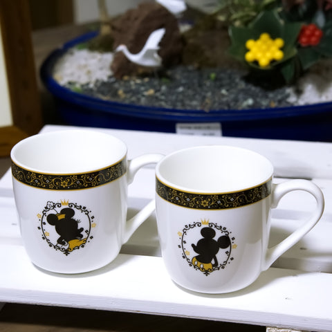 Disney Mickey & Minnie Elegant white mug set of 2 from Japan, Limited Edition
