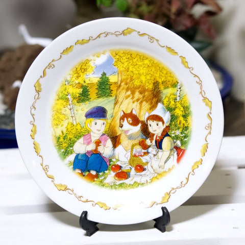 """A Dog of Flanders"" Anime Plate 7"" Vintage Nippon Animation - V1"