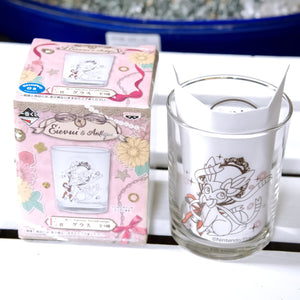 POKEMON CENTER 2018 EIEVUI & ANTIQUE Lottery Prize Eevee glass Limited Edition