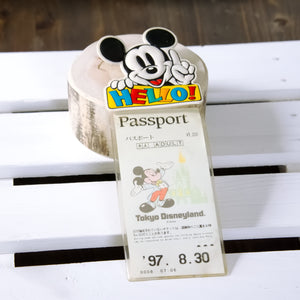 "Vintage Tokyo Disneyland ID pass Case Holder ""Mickey Mouse"", from Japan"