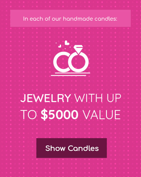 Jewelry in each candle