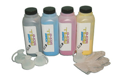4 Pack Toner Refill Kit Compatible with the Samsung CLP-500 - 550