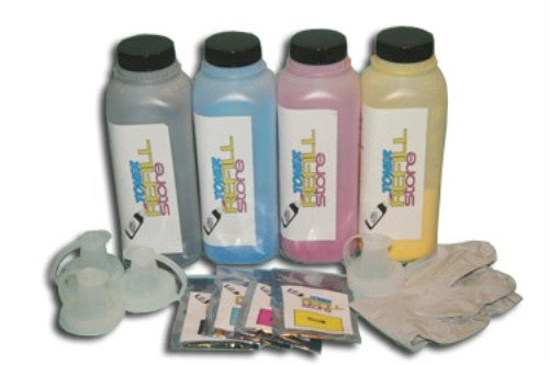 4 Pack Toner Refill Kit With Reset Chips compatible with the Samsung CLP-660